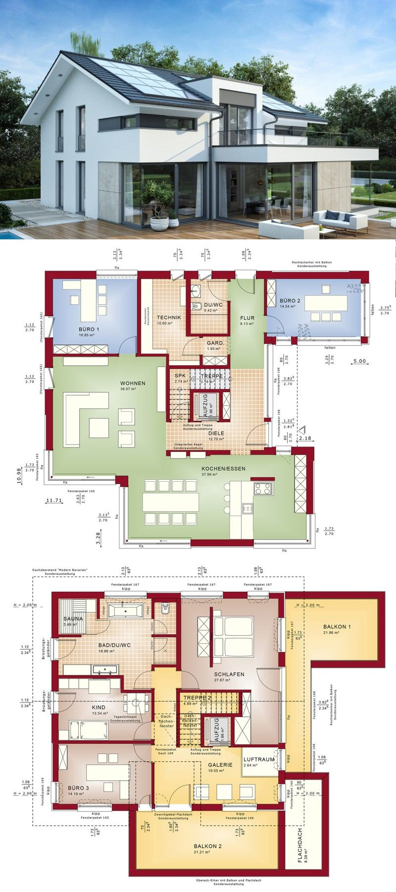 Two Storey Model House With Inspiring Perspective Architectural House Plans House Layout Plans Modern Style House Plans