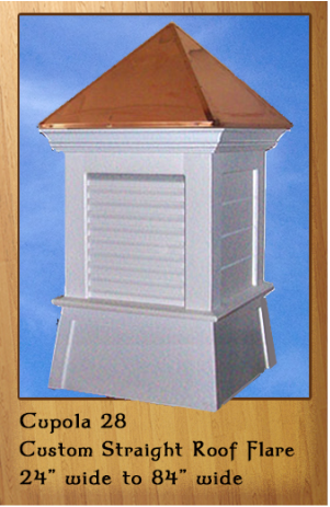 Steeper Straight Roof Custom Molding Flared Base With Corner Trim Call 866 400 1776 Cupolas Roof Home Decor