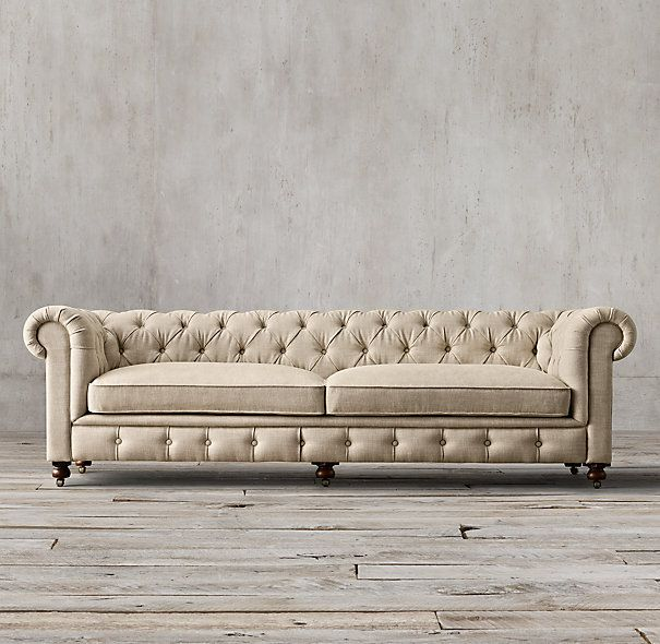Restoration Hardware The Pee Kensington Upholstered Sofa Lengths 60 72 84 96 108 120 Depth 34 Height 30
