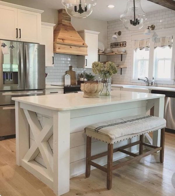 Kitchens with Big Islands #farmhousekitchendecor