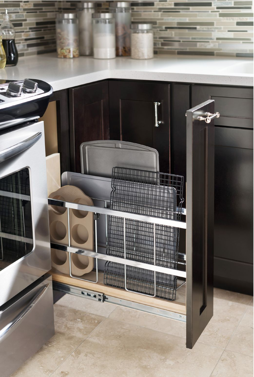 Base Tray Divider Pull Out Design By Allen Roth Kitchen Layout Kitchen Makeover Cabinetry