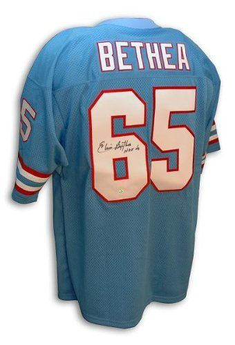 b1494aacd Elvin Bethea Hand Signed Oilers Throwback