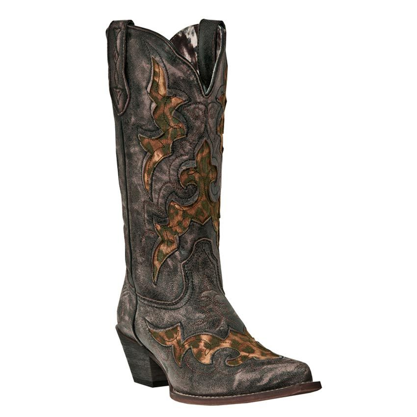 Laredo Women's Leopard Inlay Aphfrika Western Boots @mfast1 I need these in my life...