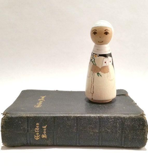 St. Catherine of Sienna Peg Doll// Saint Peg by PunchandJudyPegs