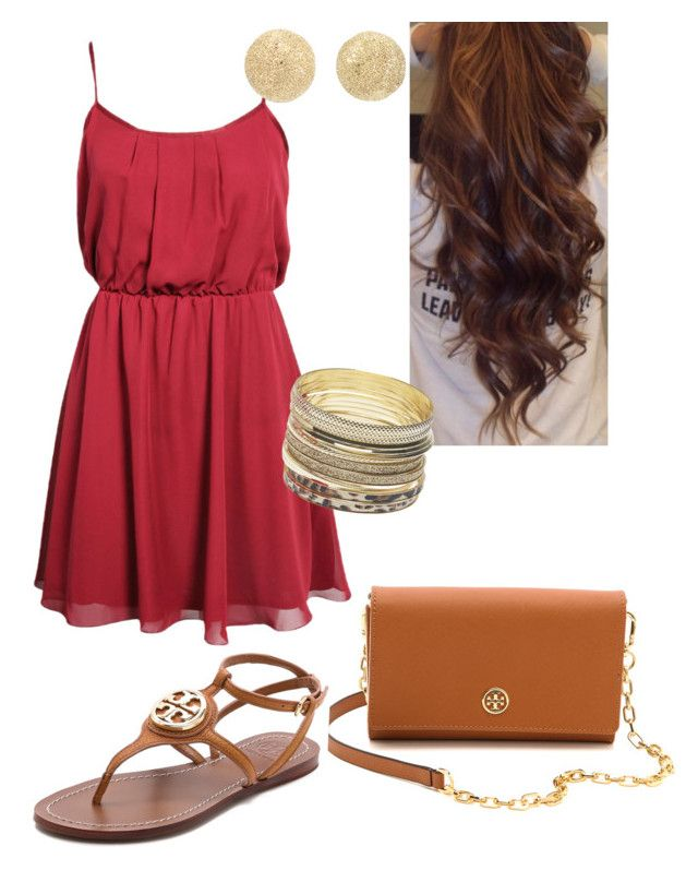 Untitled #279 by sofimore2013 on Polyvore featuring Boohoo, Tory Burch, Wet Seal and Carolina Bucci