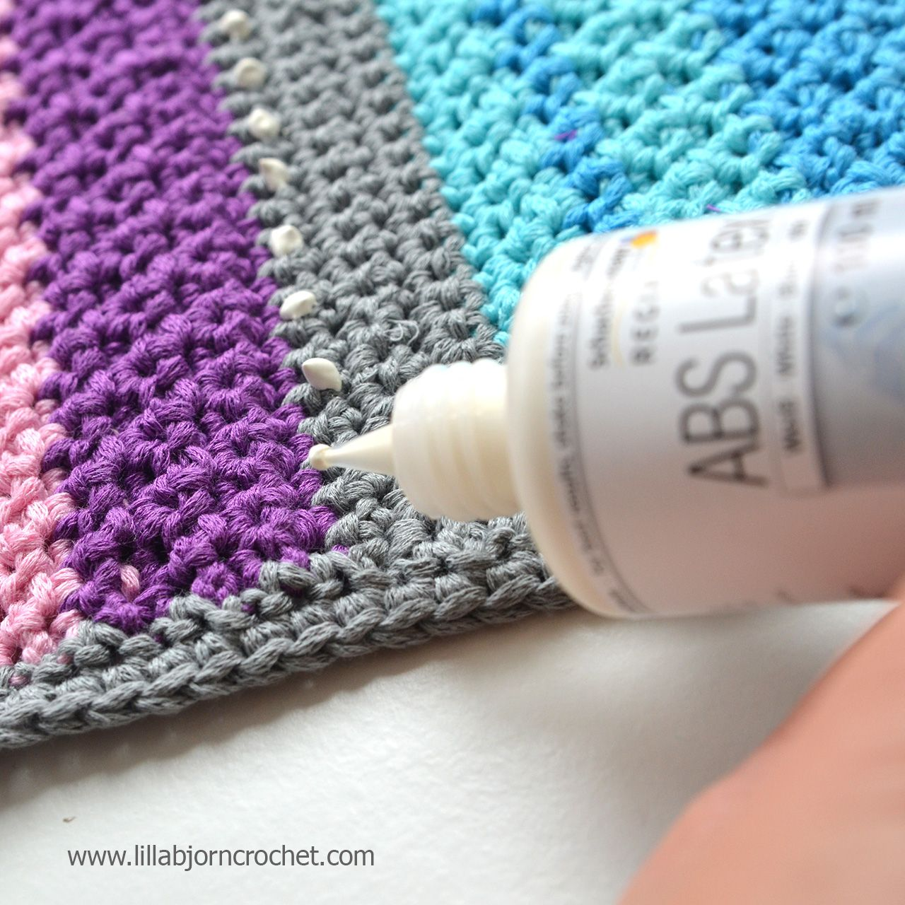 Crochet rugs are trendy but without anti-slippery materials they can be  dangerous for use. Read about 3 easy ways to make your rug non slip!
