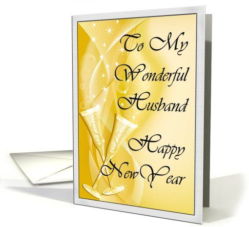 husband card happy new year to husband greeting card