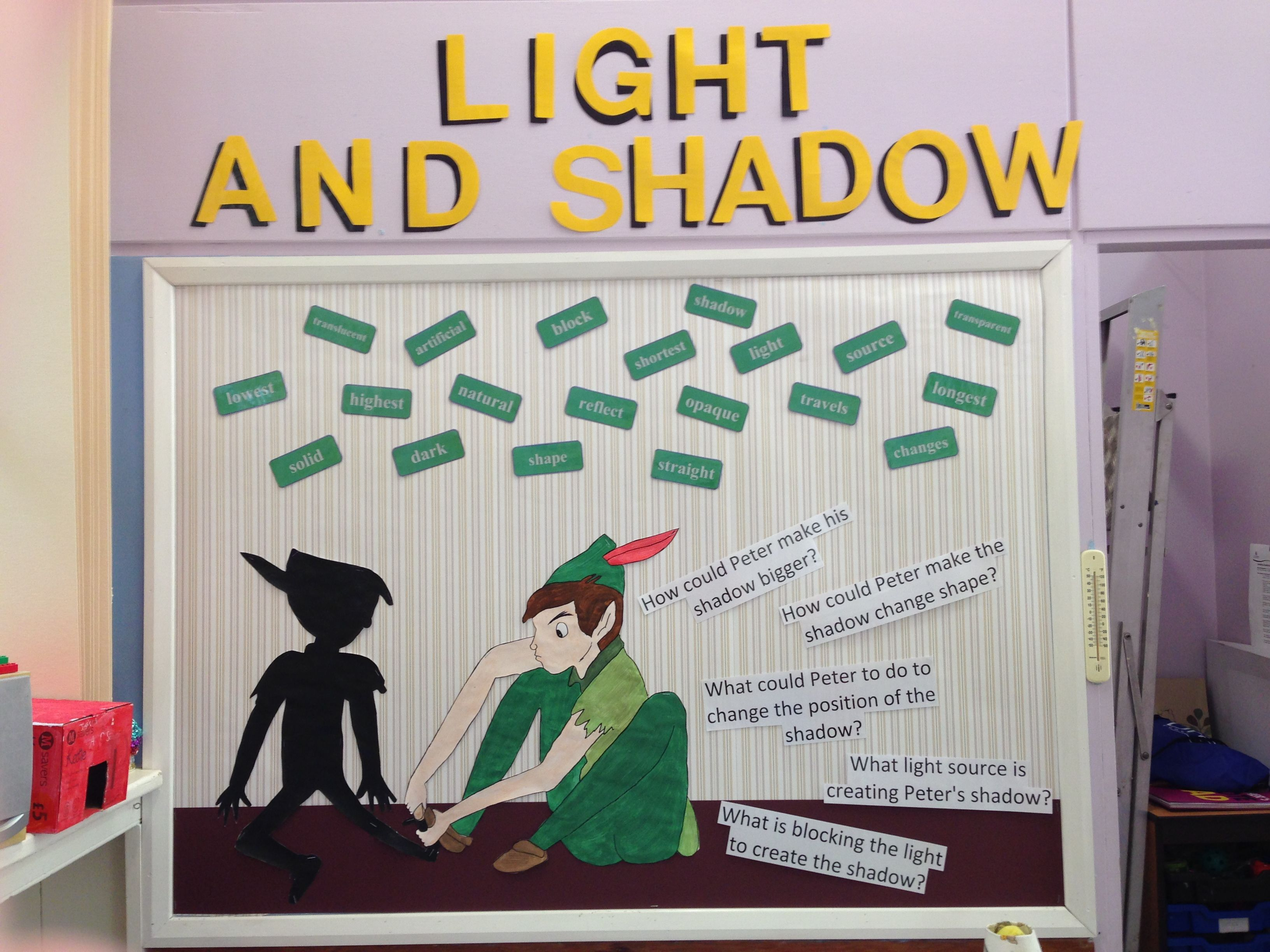 Classroom Display Science Light And Shadow Peter Pan Art
