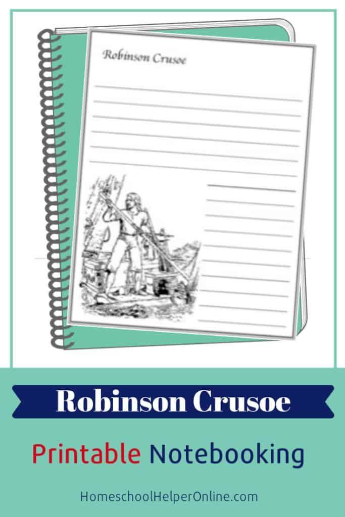 Robinson Crusoe Notebooking Page | Robinson crusoe, High ...