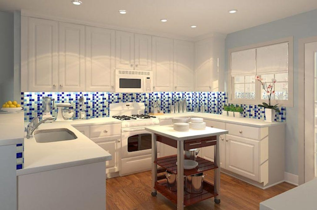 Backsplash Kitchen Blue striking blue and white kitchen tile backsplash | for the home