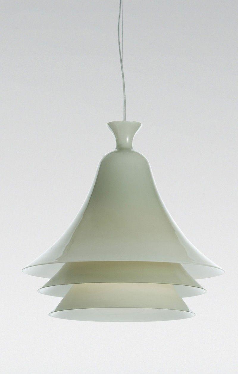 Andrea Branzi Campanula H1 Suspension Lamp - Chrome Structure (Gray ...