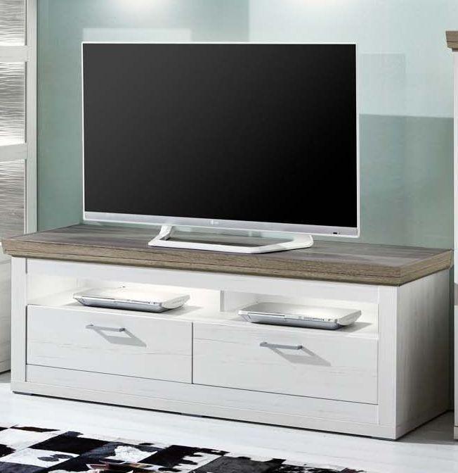 Tv-unterteil Pino Aurelio/ Eiche Sanremo Woody 97-00260 Weiss Holz - wohnzimmer weis holz
