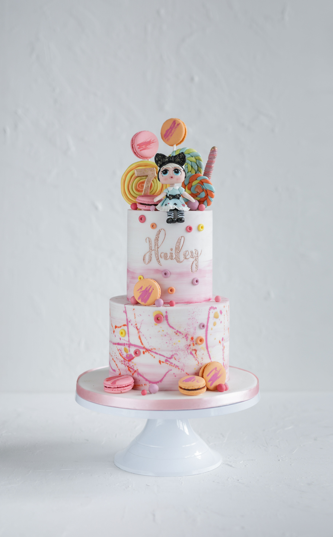 Hayleys lol dollsthemed 7th birthday cake cake 7th