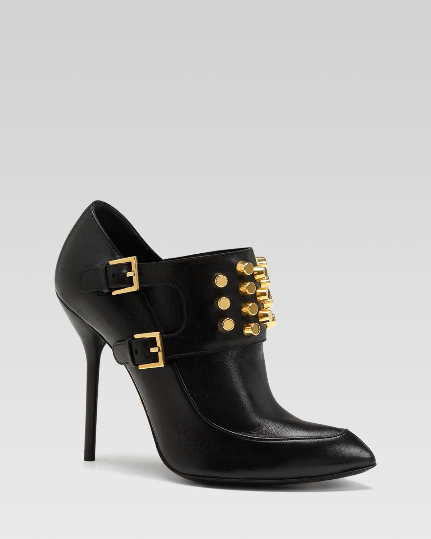 7a9797127aa Gucci Alexandra Stud Bootie in Black