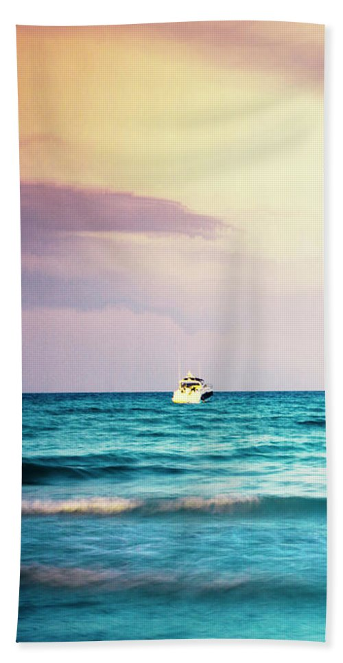 Boats On The Mediterranean Beach Towel For Sale By Dirk