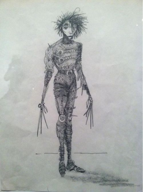 Tim Burton S Edward Scissorhands Drawing Tim Burton Art Edward
