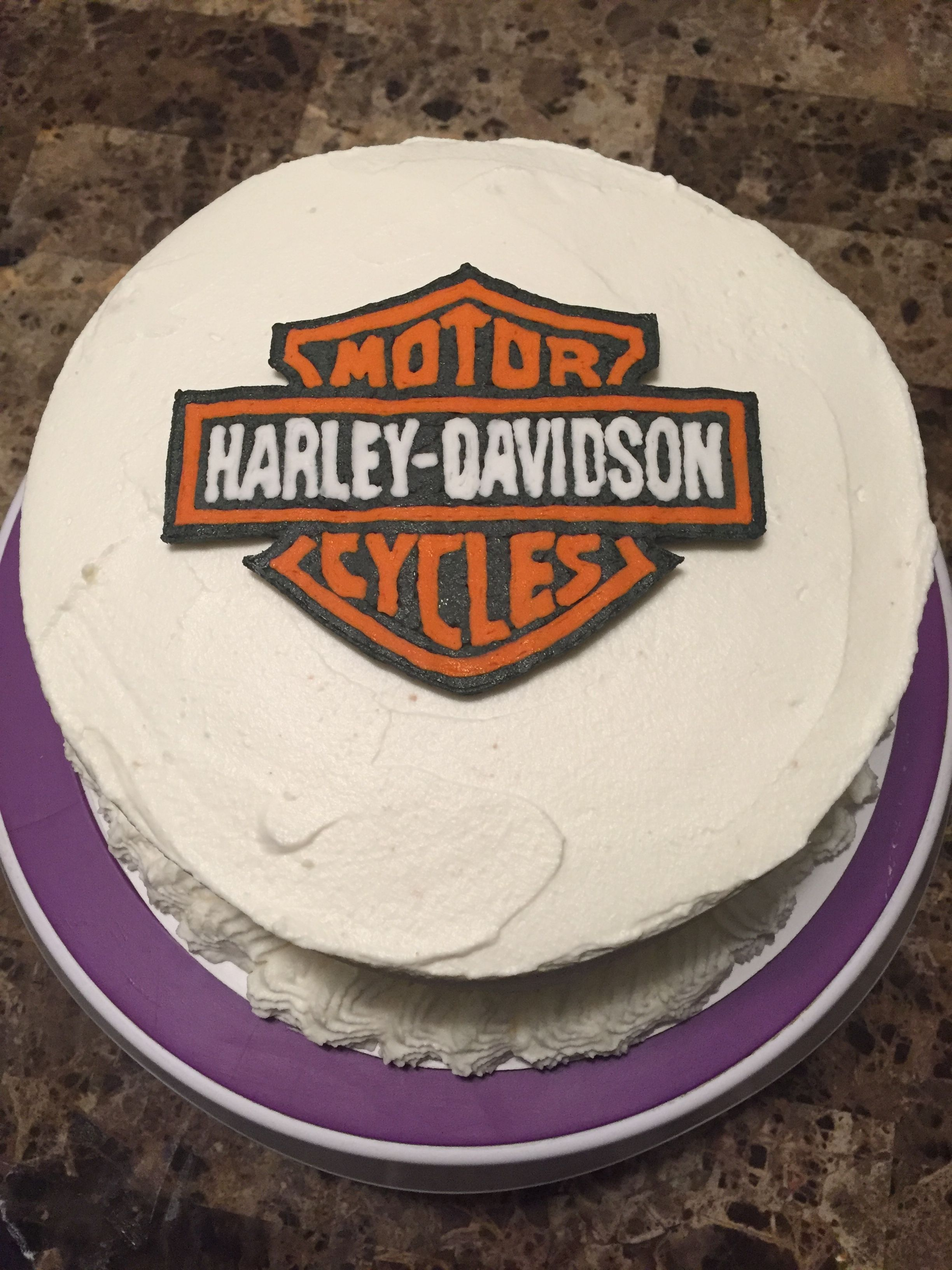 Harley Davidson Cake Buttercream Transfer Image With Images