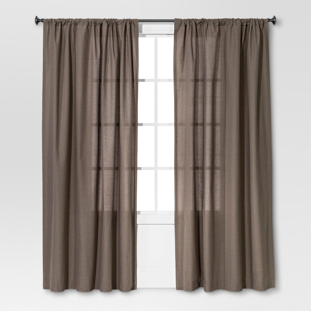 "Farrah Curtain Panel Gray (54""x95"") - Threshold"