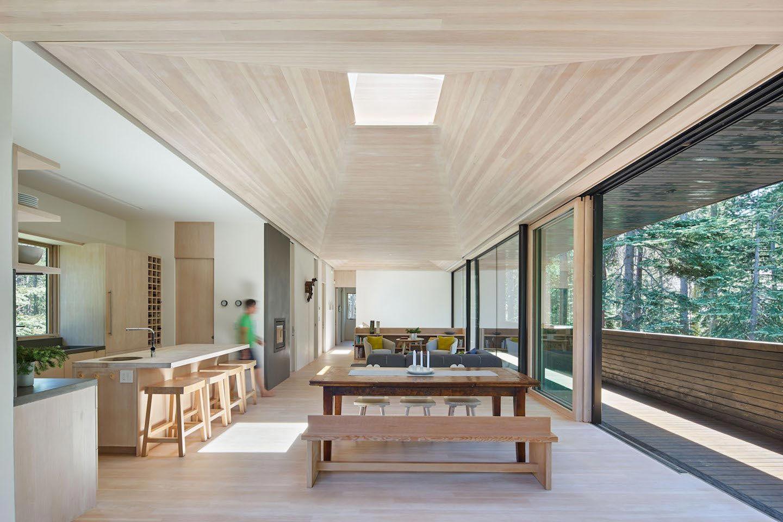 Morkulnes architects design troll hus a bedroom ski cabin in