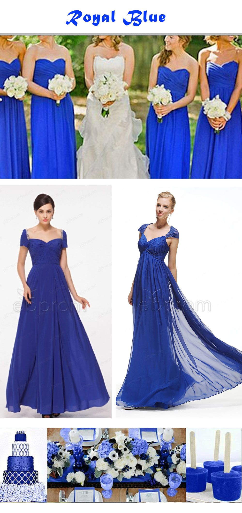 Royal blue bridesmaid dresses with sweetheart neckline maternity ...