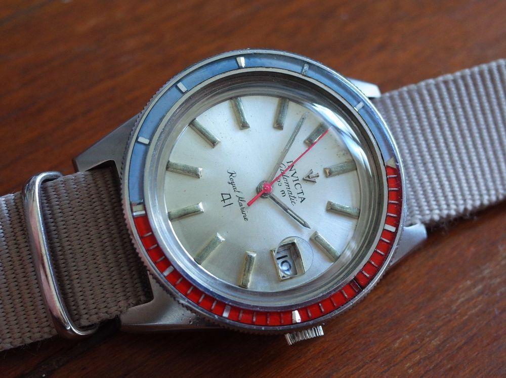 82c2b0c2083 Vintage mens Invicta skin diver automatic rotating bezel all original  serviced!!  Invicta  Diver