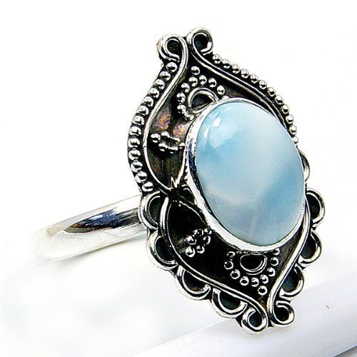 'Stone of Atlantis' Sterling Silver Larimar Ring, Size 8.25  Price : $42.25 http://www.silverplazajewelry.com/Stone-Atlantis-Sterling-Silver-Larimar/dp/B00EXY3T16