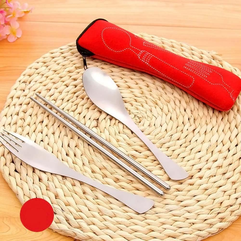 Outdoor Camping Cutlery Set 3PCS Portable Dinnerware Set Travel ...