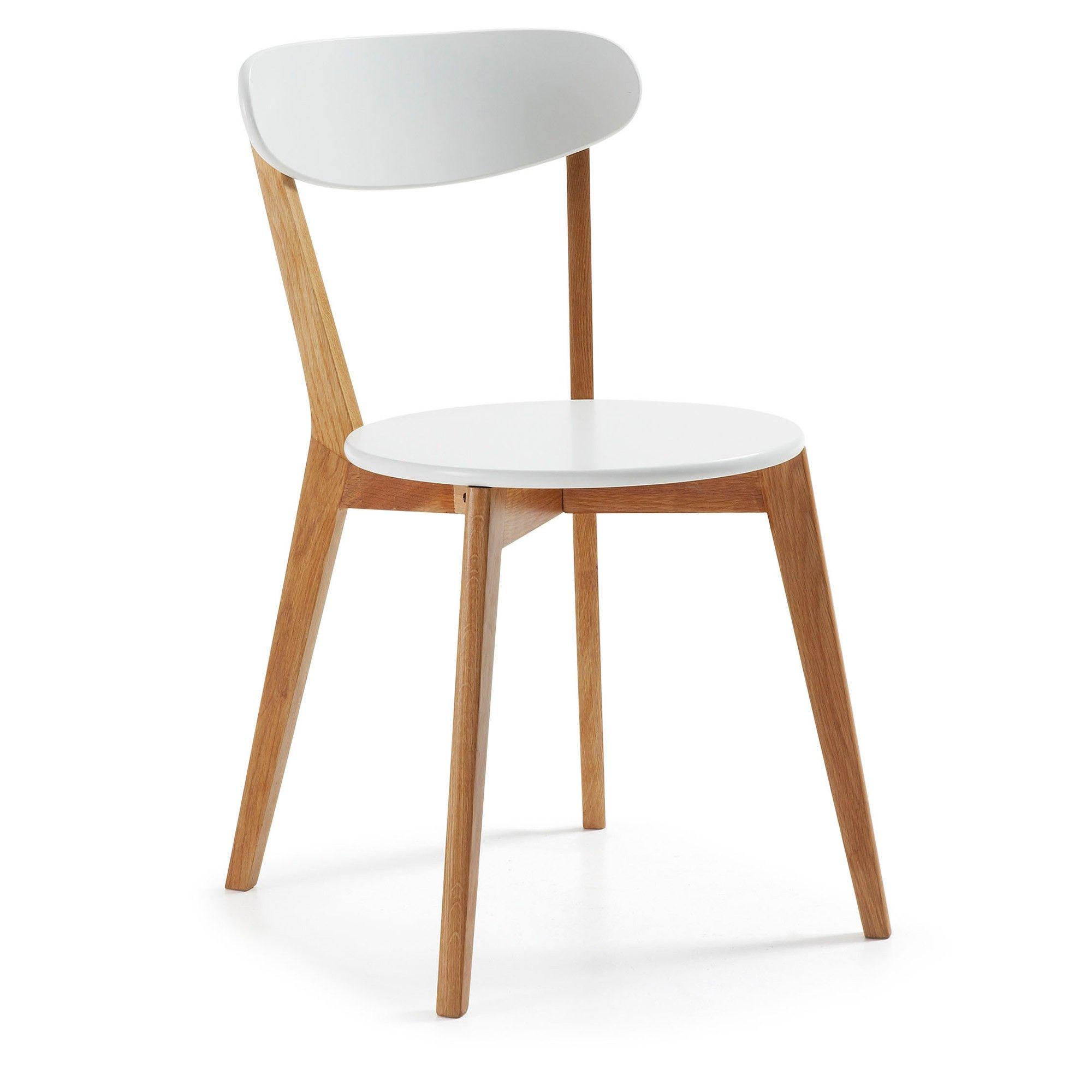 Silla Areia natural y blanco | Ideas para el hogar | Sillas ...