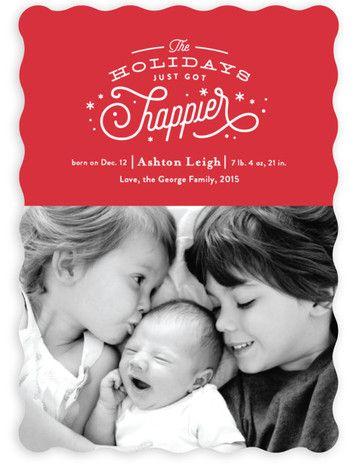 Christmas card/birth announcement Olivia Christmas baby