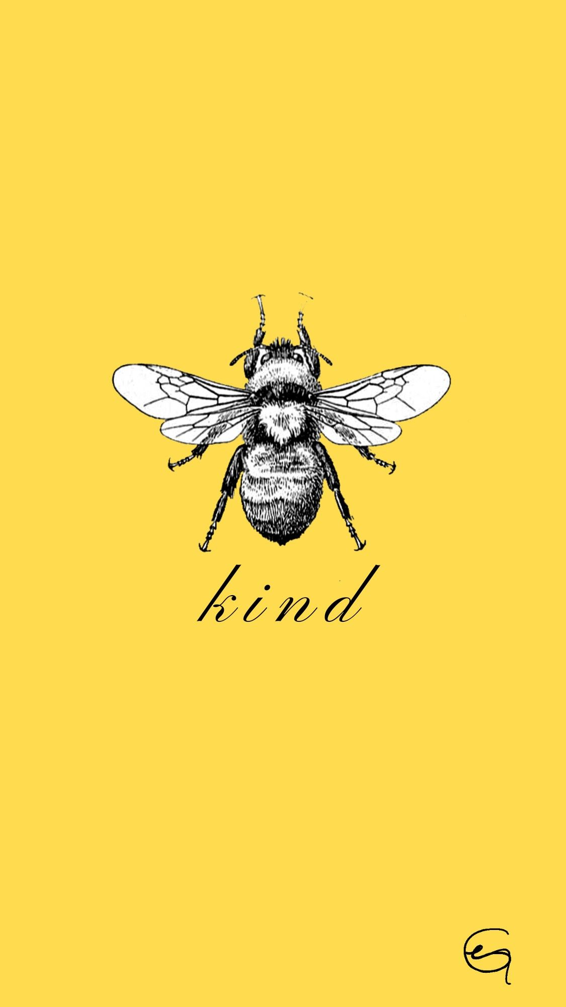 yellow bee wallpaper/background yellowaesthetic bee