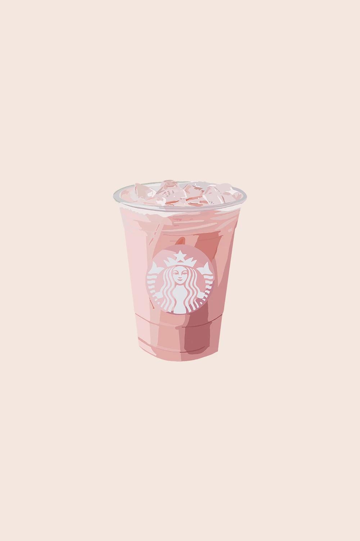 Pink Drink Ii Starbucks Wallpaper Digital Sticker Iphone Wallpaper Tumblr Aesthetic