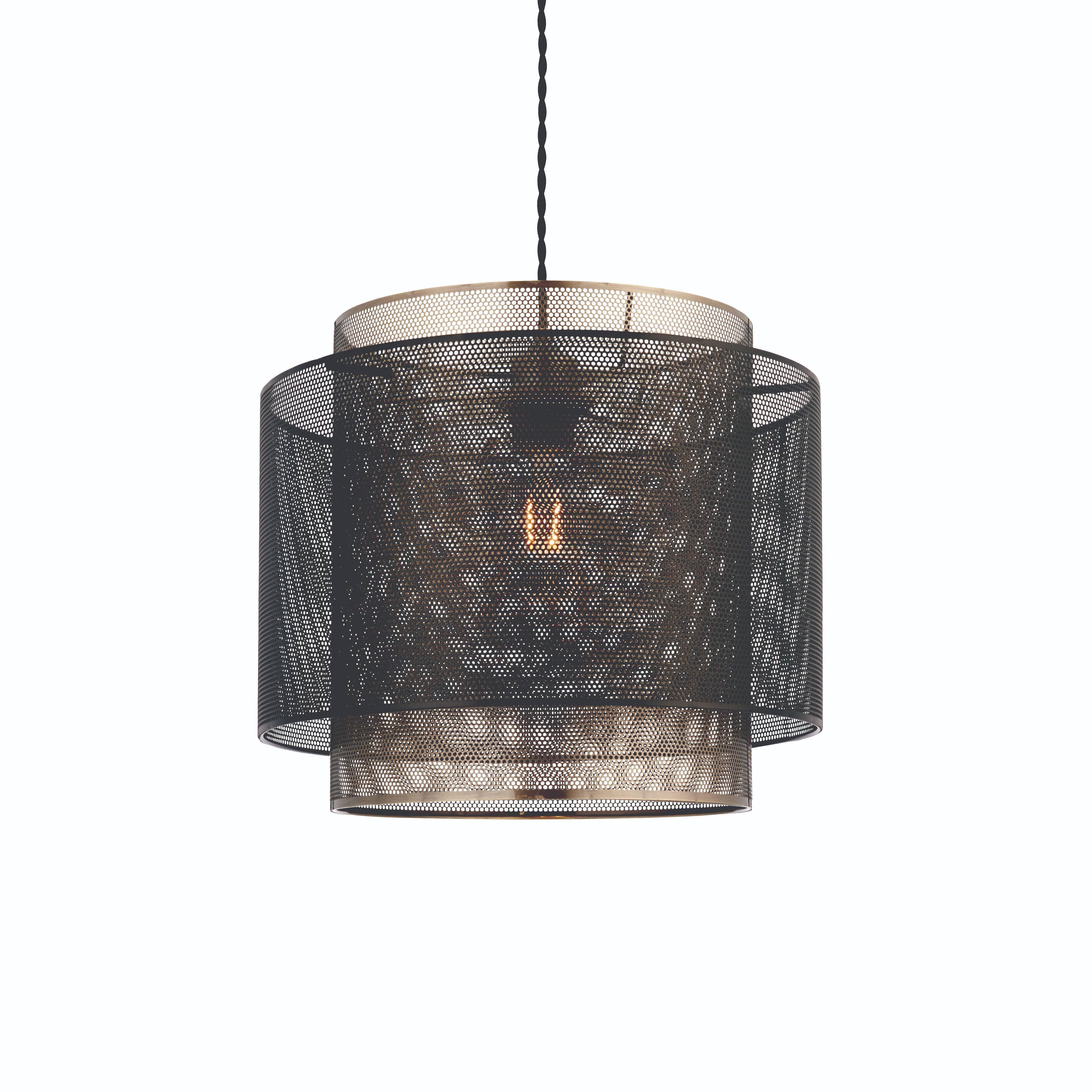 Endon 72829 Plexus Non Electric Pendant Antique Brass ... on Decorative Wall Sconces Non Electric Lights For Closets id=55031