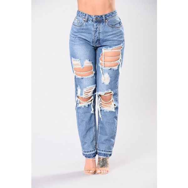 378d4cad66d Ryan Boyfriend Jeans Medium ( 40) ❤ liked on Polyvore featuring jeans