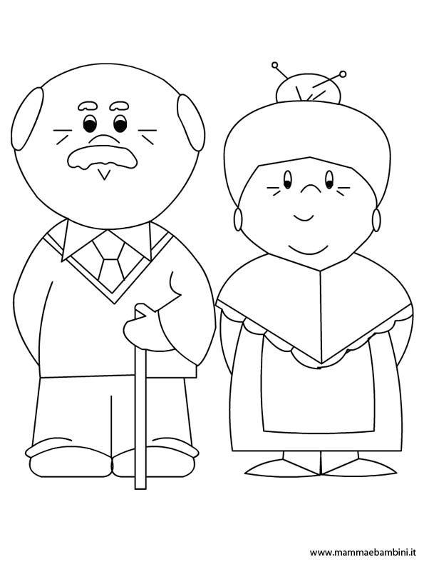 Nonni Da Colorare Jpg 595 794 Preschool Painting Family Drawing Family Crafts