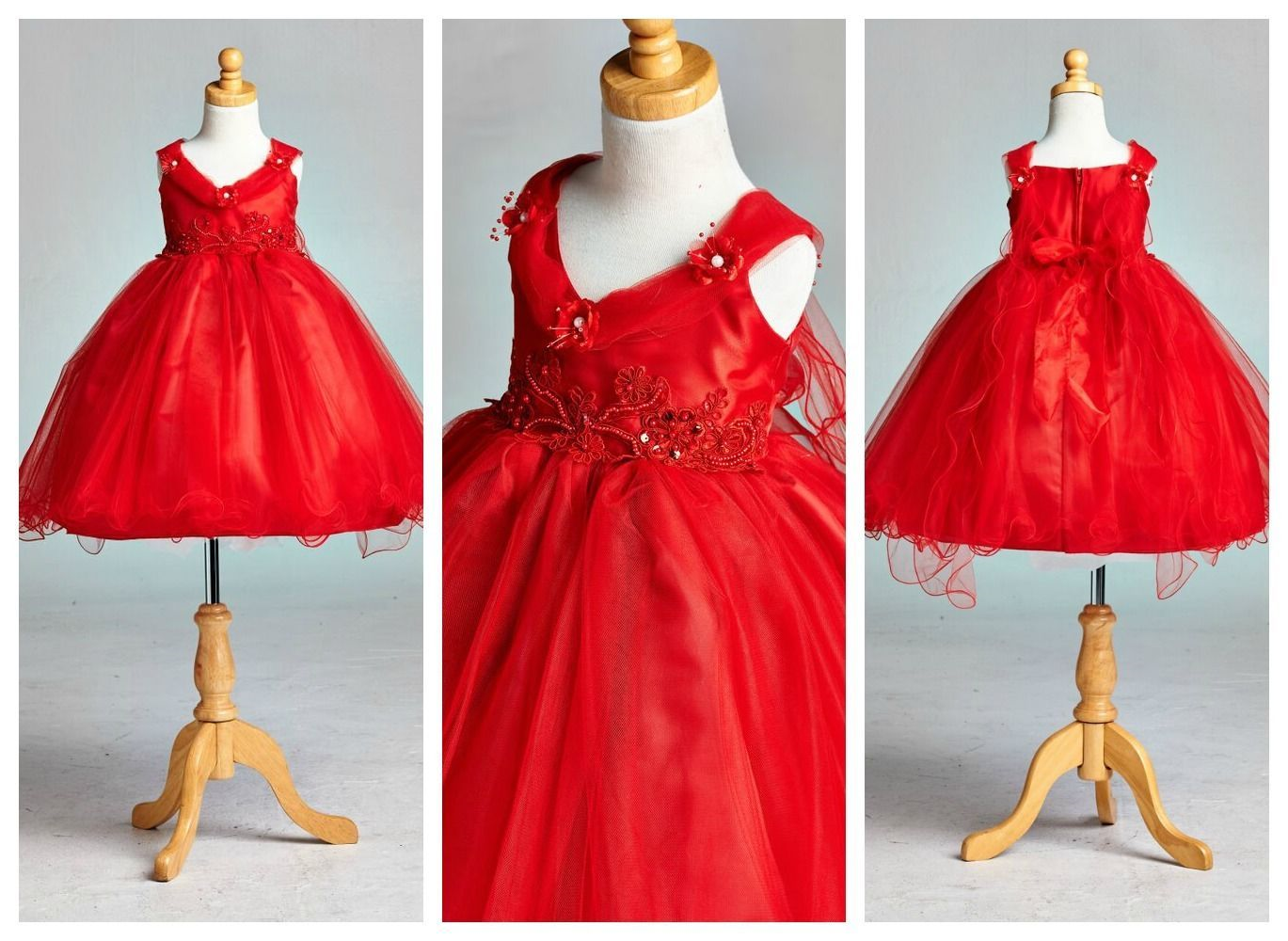 33.65$  Watch here - http://vimts.justgood.pw/vig/item.php?t=7ktriin43294 - Flower Girl Bridesmaid Elegant Christmas Pageant Recital Girl Dress #33