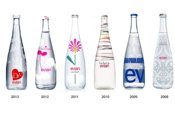 Collaboration Bottle Design Packaging Water Bottle Design Evian Bottle