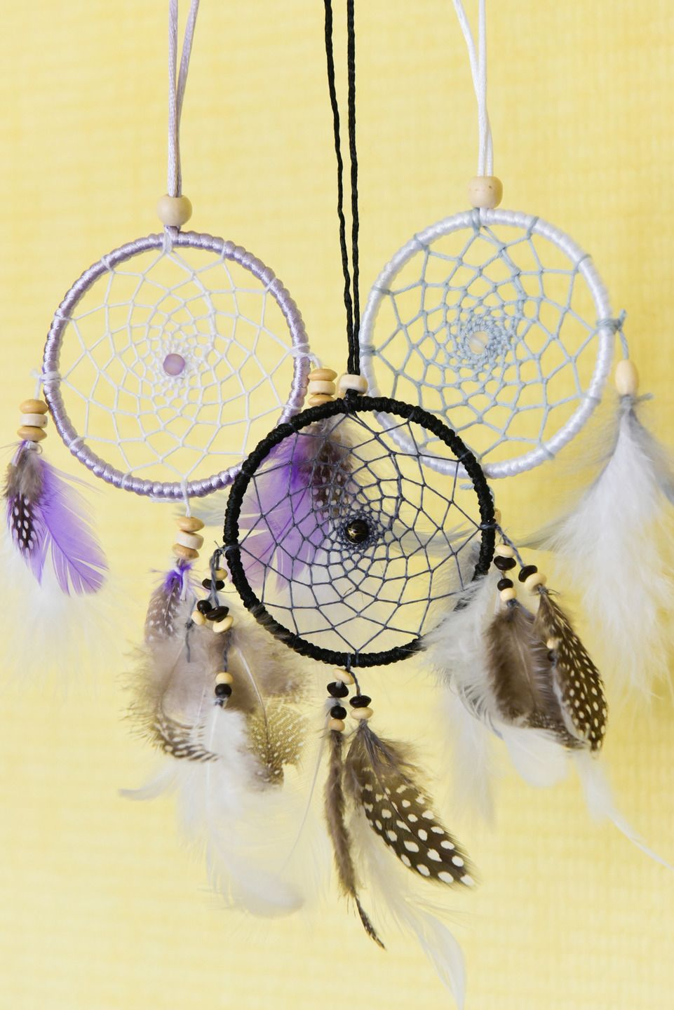 attrape r ves dreamcatcher fait main personnalisable taille et couleurs 1 cercle 8 cm. Black Bedroom Furniture Sets. Home Design Ideas