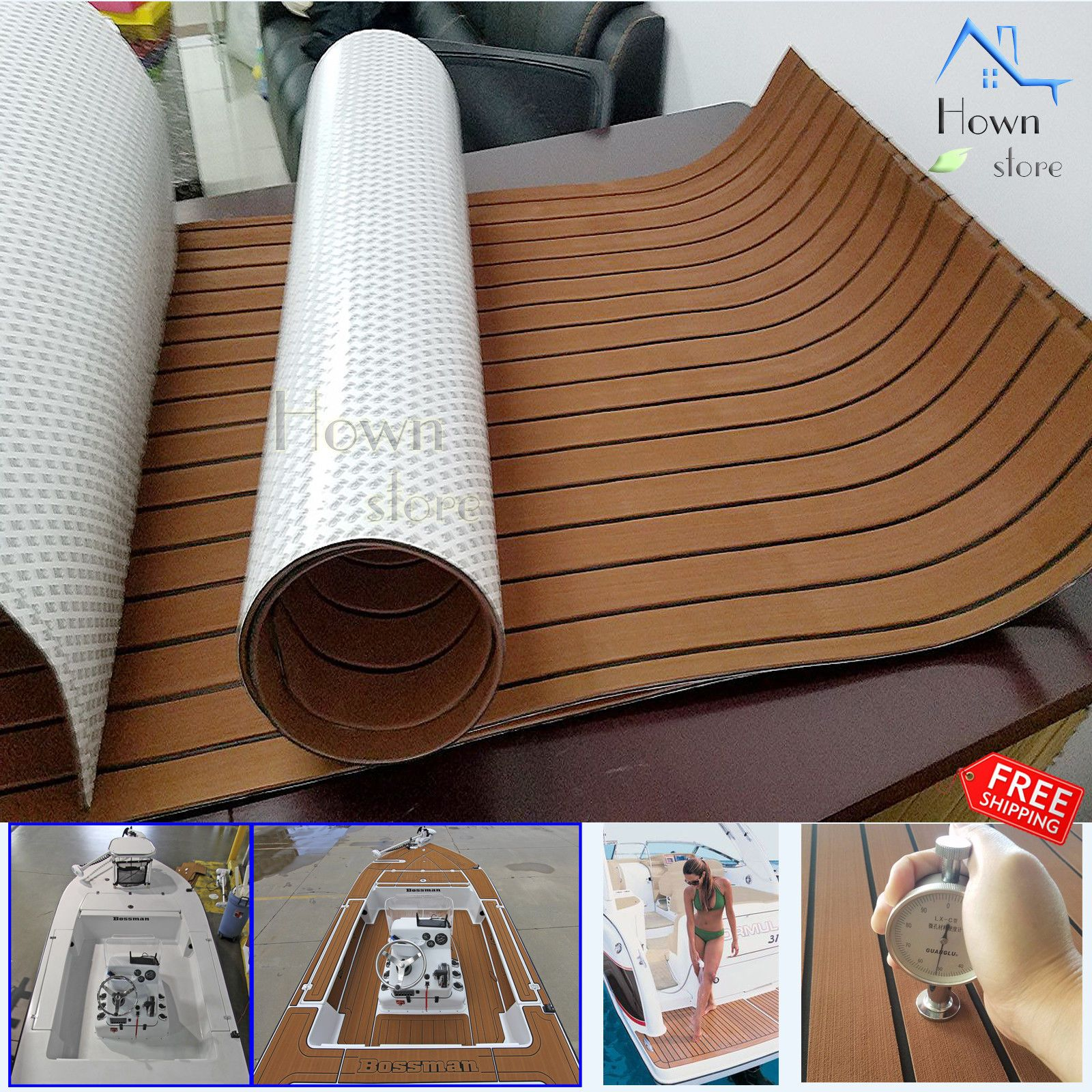 Eva Foam Self Adhesive Synthetic Teak Decking Marine Floor Boat Yacht Car 95x47 Boat Flooring Ideas Pontoon Boat Accessories Boat Upholstery