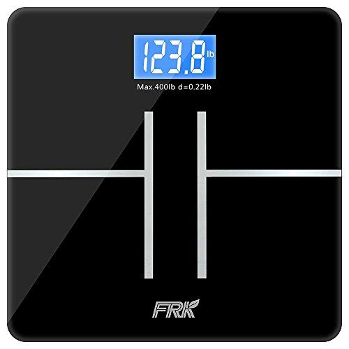 Bathroom Scale Décor FRK High Accuracy Digital Body Weight - Large display digital bathroom scales