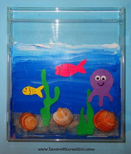 Il mare in una custodia dei cd attivit creative per for Oggetti per acquario