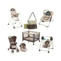 Baby Infant Toddler Travel System Bundle W Diaper Bag Car Seat