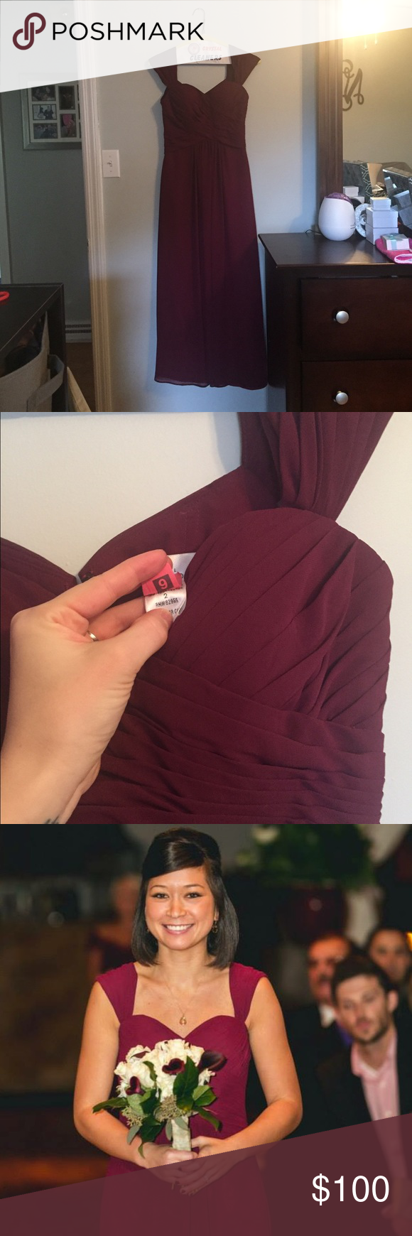 Wine color formal dress dress prom prom and customer support