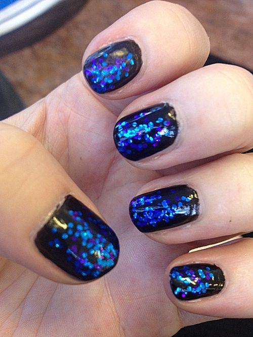 Orly \'Liquid Vinyl\' (black base), Island Girl \'Macadamia Nut\' (blue ...