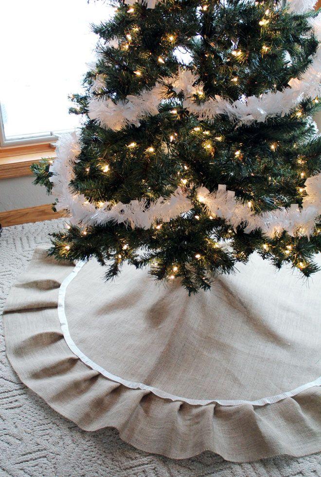 Keep Christmas tree fashionable with DIY burlap tree skirt Burlap