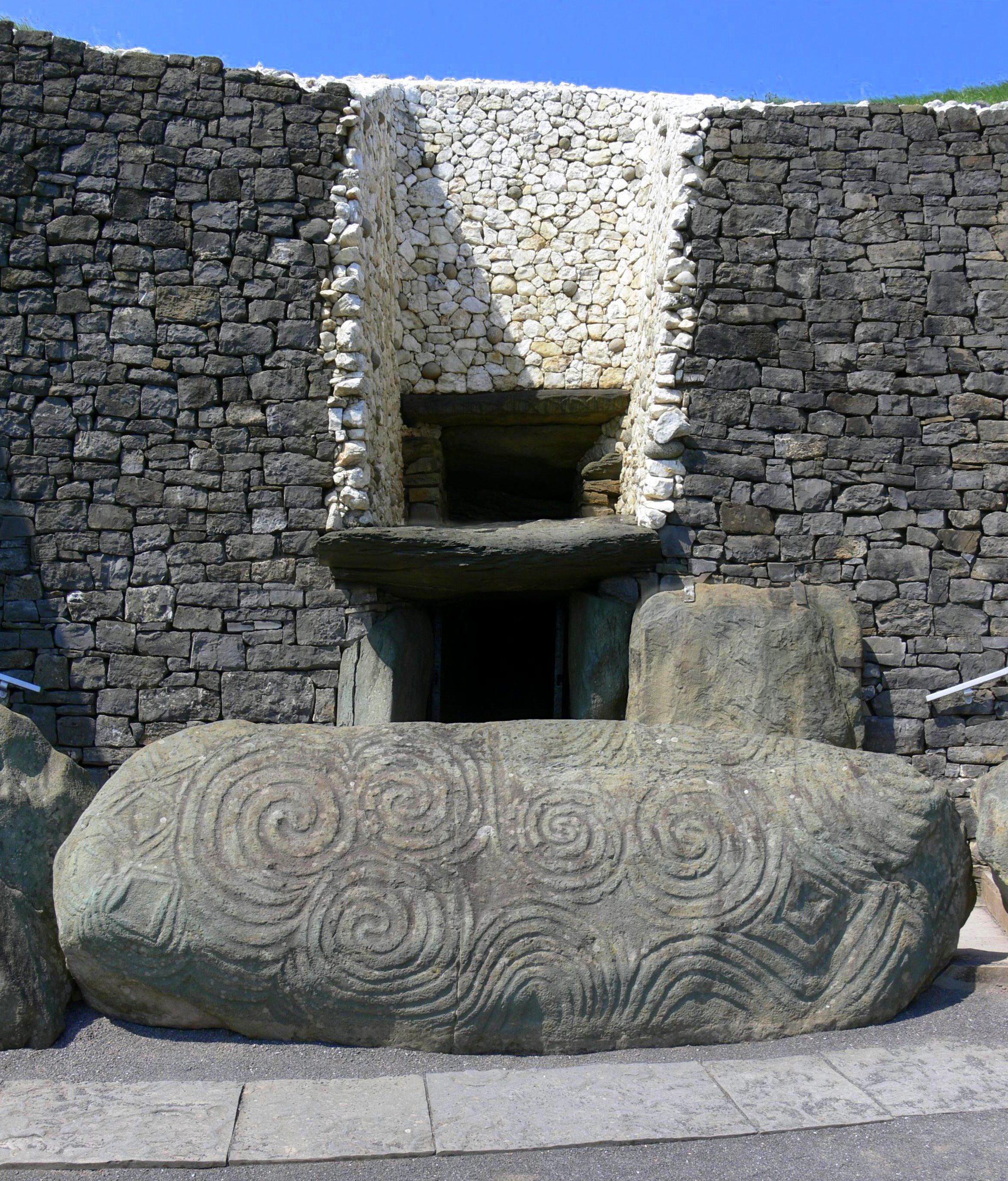 Newgrange, County Meath, Ireland. This is a Neolithic site