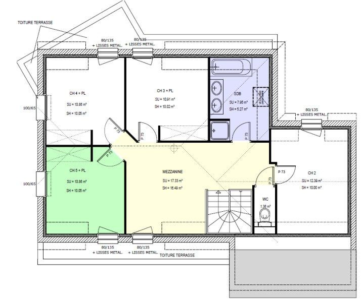 Une maison de 160 m2 en trois cubes (le plan) plan maison