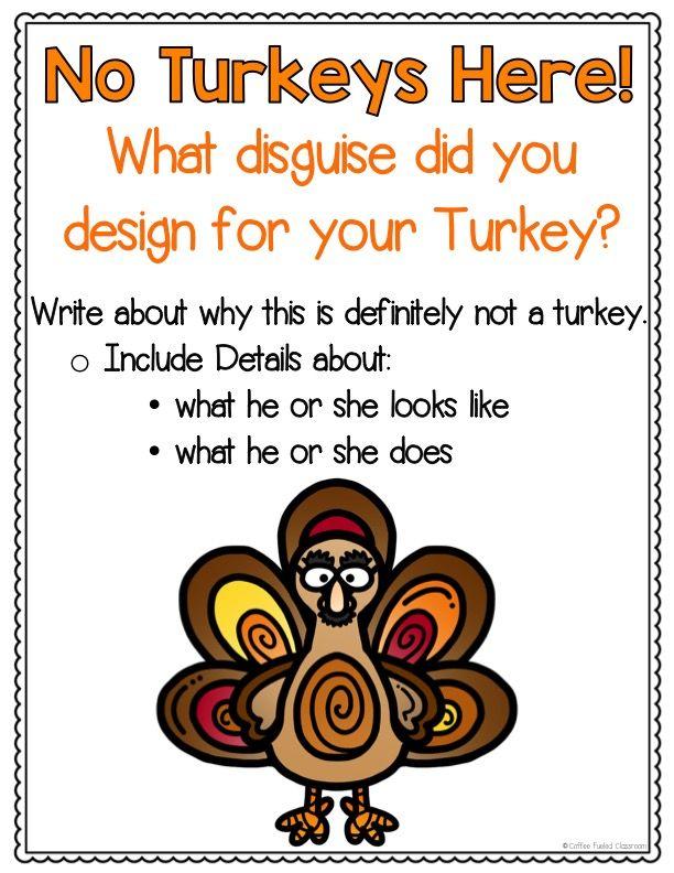 Turkey Trouble Disguise A Turkey Project Turkey Trouble Turkey Disguise Thanksgiving Bulletin Boards