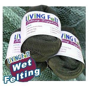 "Wet Felting Supplies Mesh Fabric 30"" x 60"