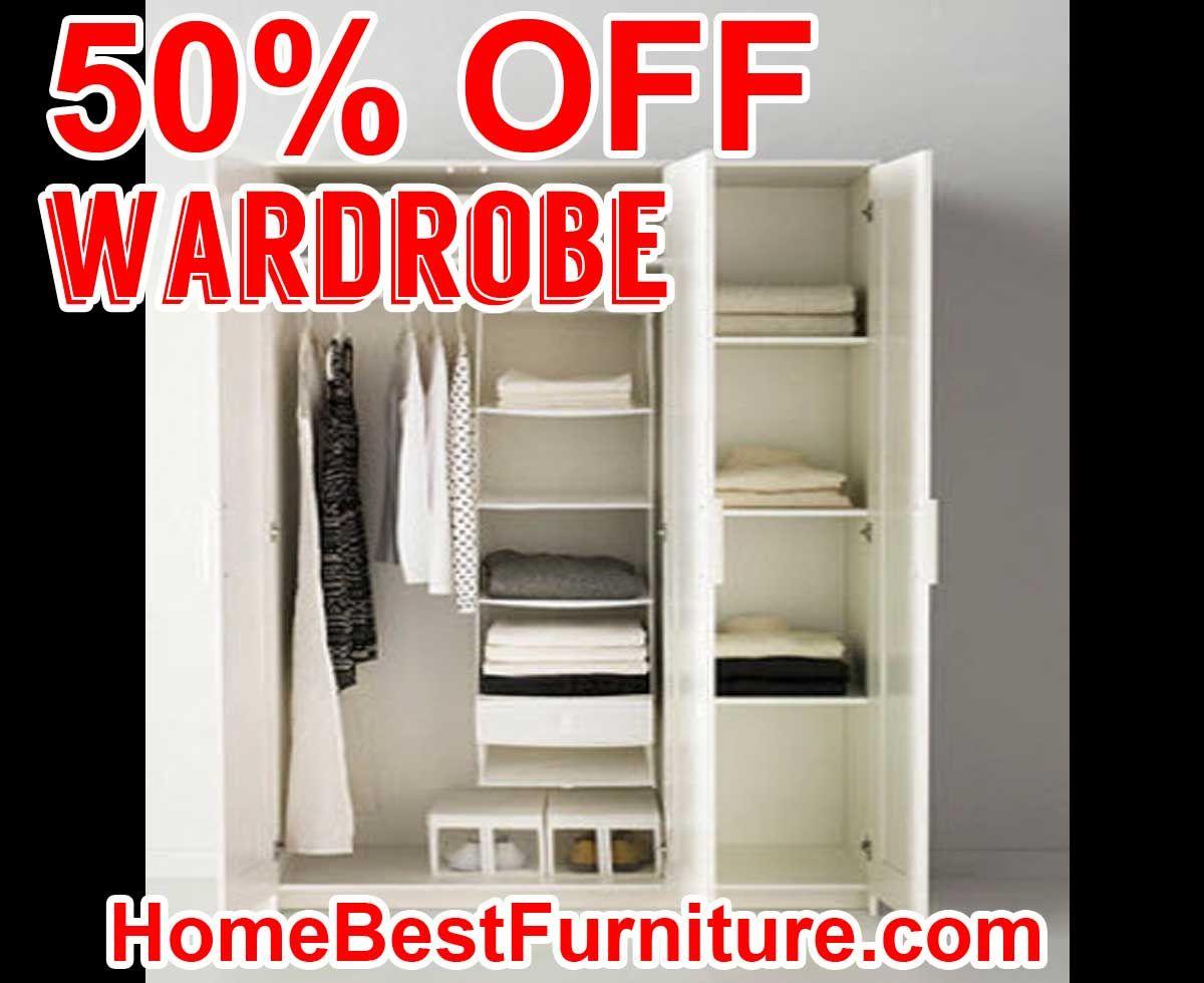 50 Percent Off Discount Brimnes Wardrobe With 3 Doors White