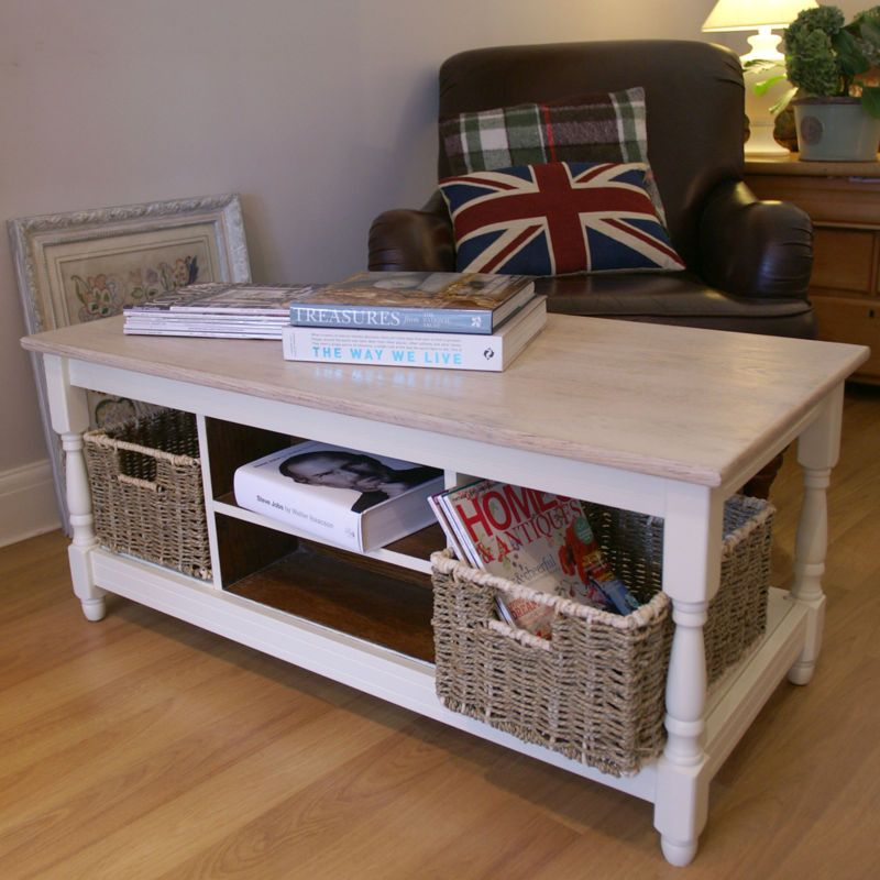 Coffee Table Rustic Country Cotswold Painted Laura Ashley Creamware Ebay English Emporium